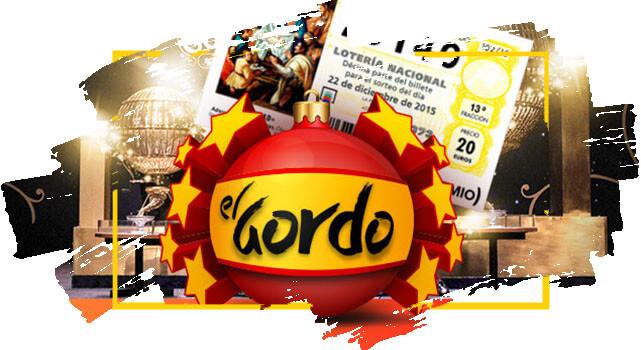 Logo del Gordo para celebrar el grupo que ganó con Lotoland