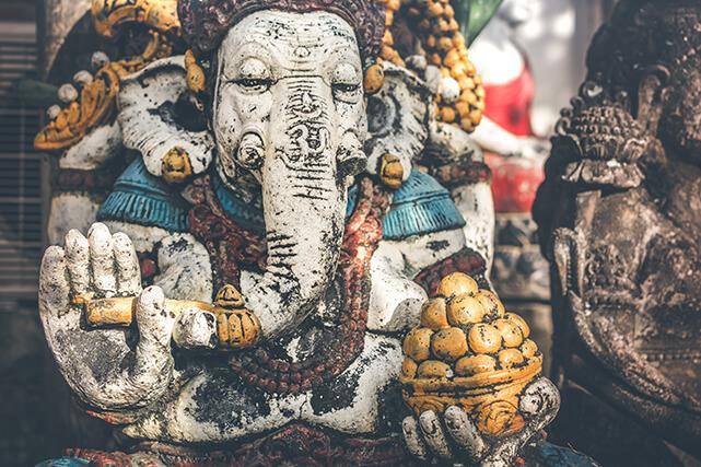 Elefante como amuleto de la suerte