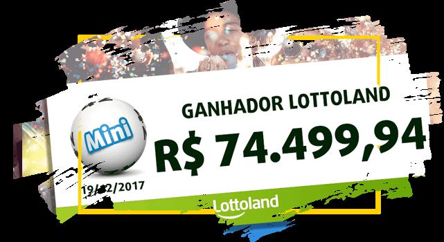 Cheque con premio de ganador brasileño de MiniLotto de Lotoland