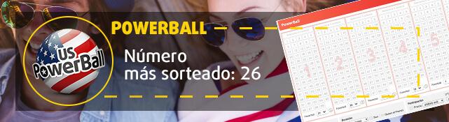 Teaser - Número más sorteado en PowerBall