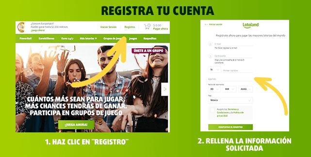 Teaser - Pasos para  registrar una cuenta en Lotoland y jugar la lotería