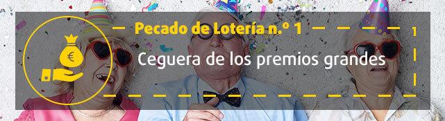 Teaser n.º 1 sobre error de la lotería - Ceguera de los premios grandes
