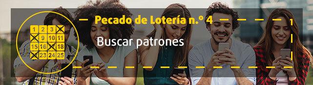 Teaser n.º 4 sobre error de la lotería - Buscar patrones