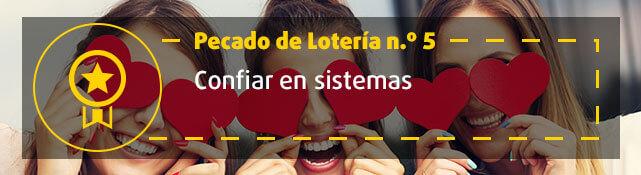 Teaser n.º 5 sobre error de la lotería - Creer en sistemas