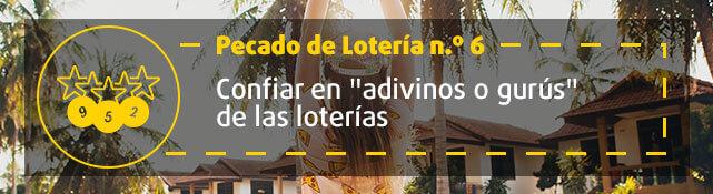 Teaser n.º 6 sobre error de la lotería - Confiar en adivinos o gurús de la lotería
