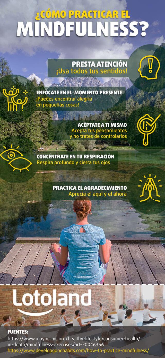 Infografía sobre cómo practicar el Mindfulness