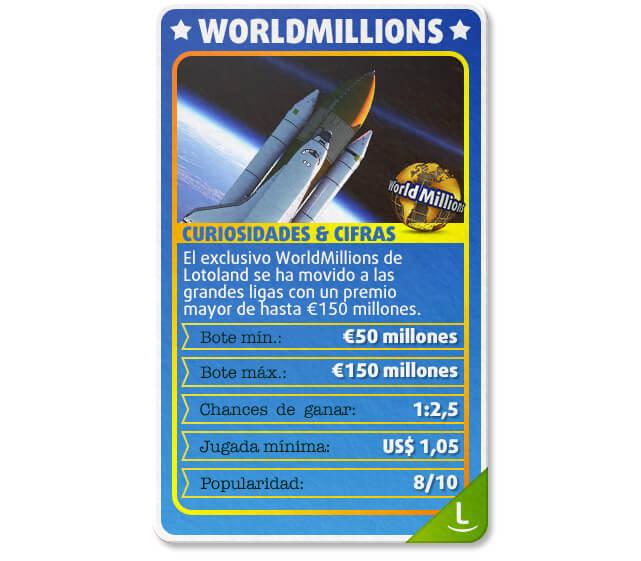 Tarjeta sobre WorldMillions: Curiosidades, botes, chances y más