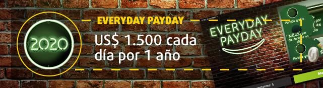 Imagen del raspa y gana Everyday Payday y su premio mayor