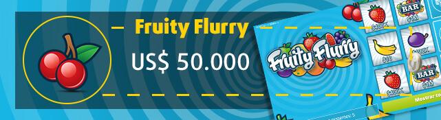 Imagen de la raspadita Fruity Flurry y su premio de US$ 50.000